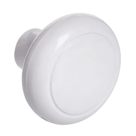 wilko plastic knob white 48mm 8pk at wilko