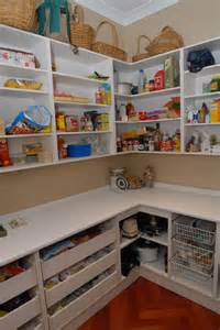 Walk In Kitchen Pantry Design Ideas Dazzling Walk In Kitchen Pantry Designs With L Shaped Pantry Shelves And White Laminate