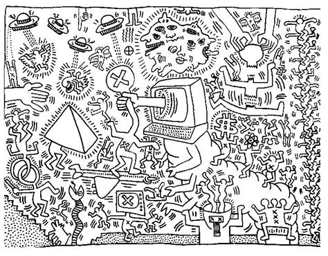 the street art colouring 1909855901 coloriage adulte keith haring g 7 jpg 726 215 567 coloring pages keith
