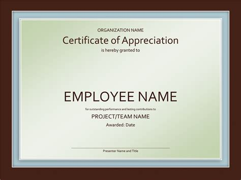 appreciation award templates employee appreciation award certificate