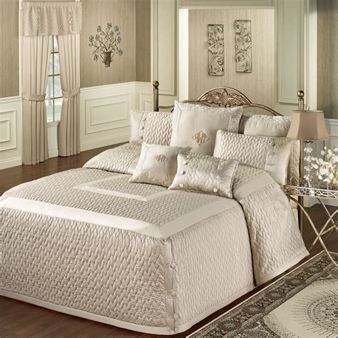 king bed spread silk allure fawn tailored oversized quilted bedspread bedding