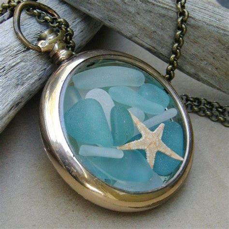 sea glass jewelry how to make summer wedding sea glass locket i want to make this