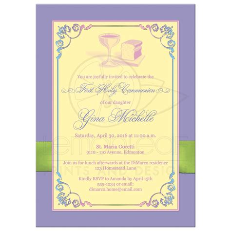 layout by stationary adalah invitation cards holy communion gallery invitation