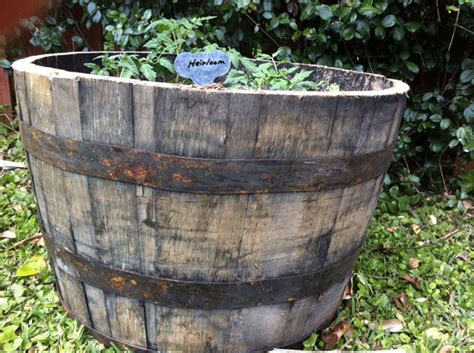 whiskey barrel planter home depot barrels pots planters