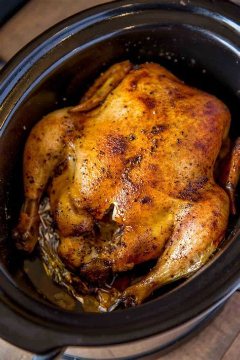 slow cooker rotisserie chicken dinner  dessert