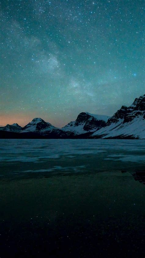 hd themes for redmi 2 download milky way over bow lake alberta canada hd
