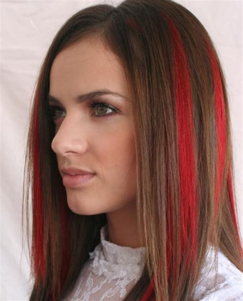 brunette red hairstyles dark brunette and red highlights its pretty much what i