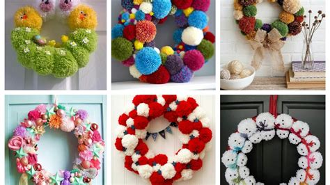 how to make decorations pom pom wreaths ideas for every season easy diy door