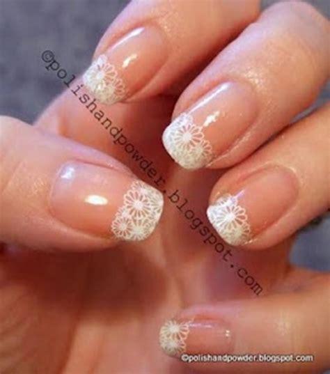 decori unghie fiori 5 nail per sposa con il pizzo