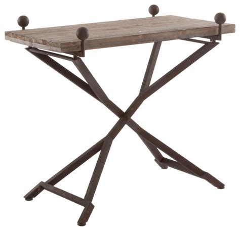 bistro folding accent table folding accent table country reclaimed wood folding