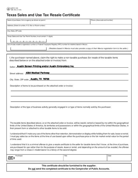 tax exemption form 2017 sales tax exemption form pdf