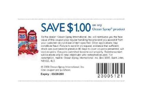 ocean spray coupons nz