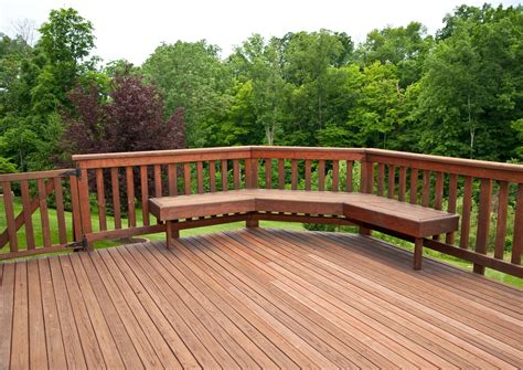 wonderful wooden backyard decking ideas with the forest