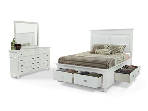 Bookcase Bedroom Set White Queen Storage Bed Queen Storage Bed With Bookcase