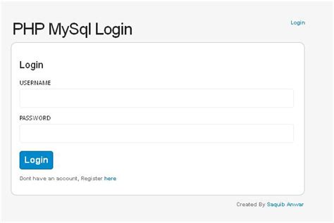 mysql log date format php mysql authentication class register and authenticate