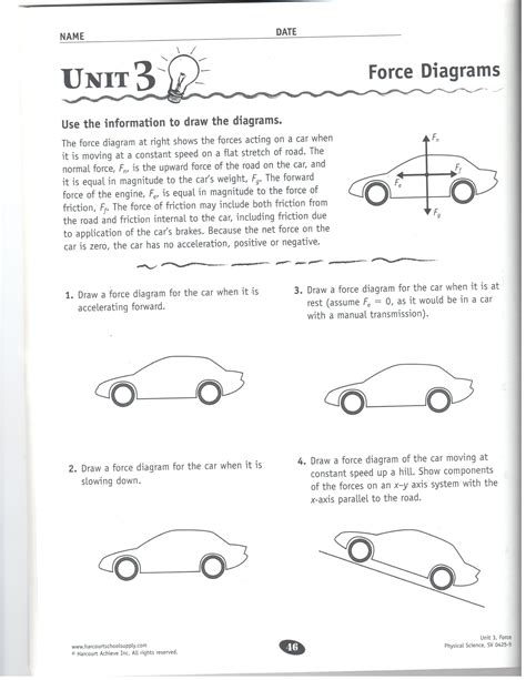 Physical Science Motion And Forces Worksheet Answers by Diagrams Worksheet Photos Getadating