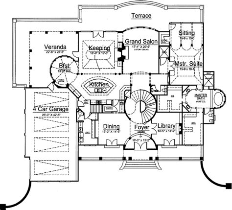 monster home plans luxury style house plans 5691 square foot home 2 story