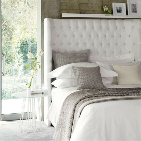 White Upholstered Headboard 25 Best Ideas About White Upholstered Headboard On Upholstered Headboards Grey
