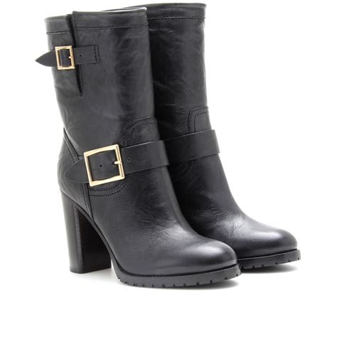 10 Jimmy Choo Boots by Jimmy Choo Dart Leather Boots In Black Lyst