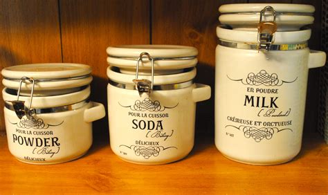 Labels For Kitchen Canisters by French Style Canister Labels For The Kitchen And Food Storage