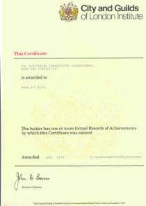 city and guilds certificate template electrical and electronics