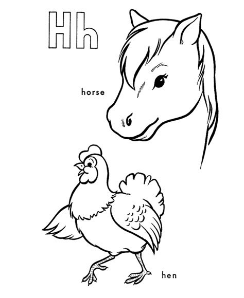 h coloring pages az coloring pages