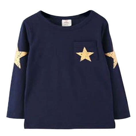 pattern long shirt kids boy toddler baby shirts star pattern long sleeve tops