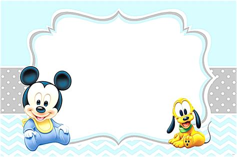 blue white black mickey mouse post card template mickey mouse invitation template baby shower invitations