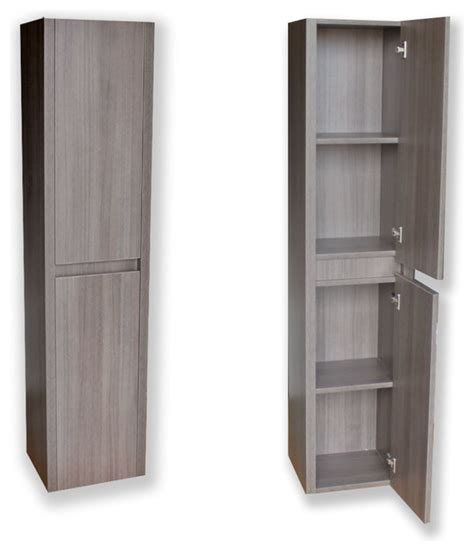 Innovative Bathroom Storage Modern Side Cabinet Grey Oak Modern Bathroom Cabinets And Shelves By Bathgems