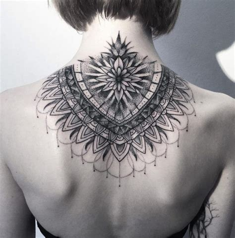 tattoo mandala nacken mandala tattoo necken dotwork fragment tattoos