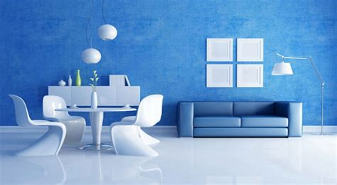 decoracion en blanco  azul