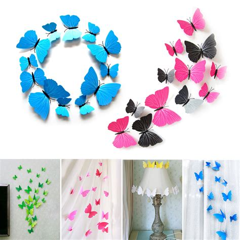 3d Decorations by 12pcs 3d Butterfly Design Decals Wall Stickers Home