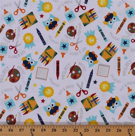 printable fabric with adhesive cotton colorfully creative crayola crayons paints glue