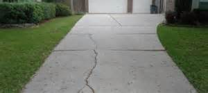 dealing with a cracked concrete driveway home
