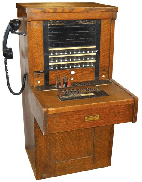 Switchboard Search Telephone Switchboard American Electric Co Monotype Orig Cond In Quartersawn Oak