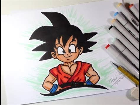 imagenes de goku dibujos como desenhar o goku crian 199 a de dragon ball muito f 193 cil