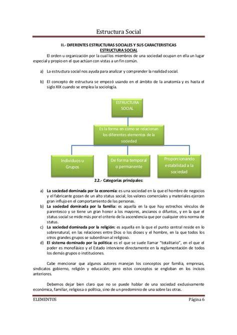 Resumen Y Sus Caracteristicas by Tema 3 Estructura Social Y Sus Elementos