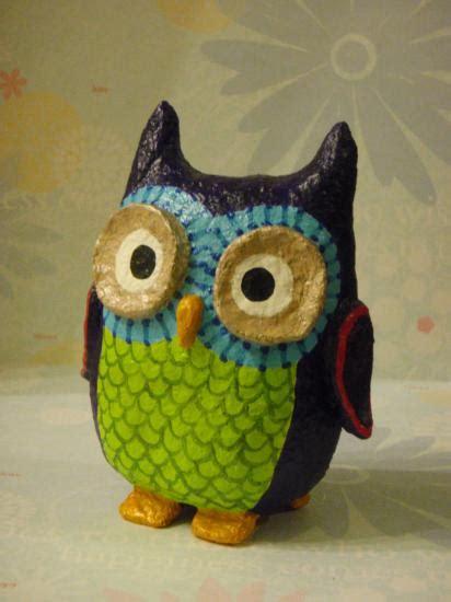 How To Make A Paper Mache Owl - papier mache galleries st denis