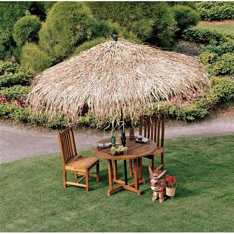 Tiki Hut Umbrella Tiki Hut Structures And Furniture Pieces For Homes