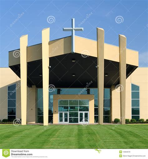 vestibulo igreja entrance to modern church stock image image of green