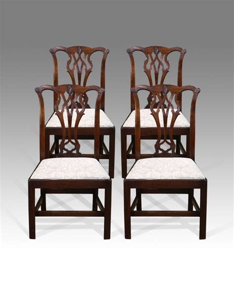 antique dining chairs set of four quality mahogany
