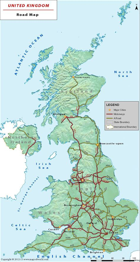 road map uk uk road network map is a great companion on roads of