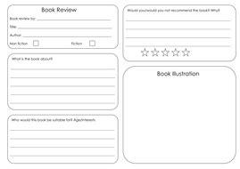 book review template by bora_bora teaching resources tes