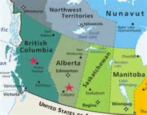 Western Canada Map by Prevention Programs Ending Violence Bc