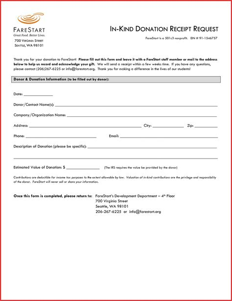 In Donation Template