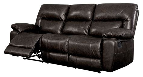 Top Grain Leather Recliner Sofa Stallion Top Grain Leather Match Reclining Sofa Cm6319 Sf Furniture Of America