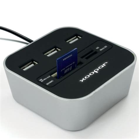 Usb Hub Card Reader xoopar 174 usb hub card reader podium find us on at https www jnlondon
