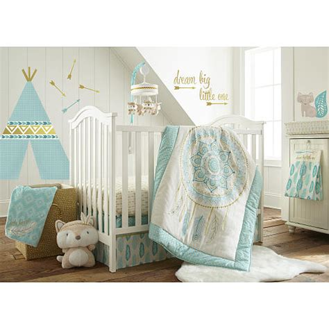 aqua crib bedding sets levtex baby feather 5 crib bedding set aqua