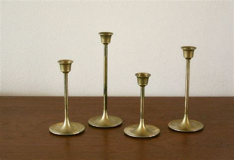 Brass Candle Holders Vintage Brass Candle Holders Mod Candle By Rustyvintage On