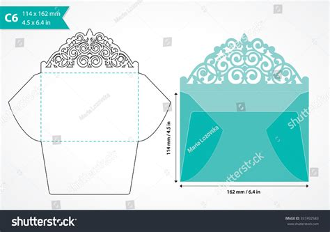 card dye cut templates royalty free die cut envelope template laser cut